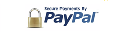 Safe payments by Paypal!